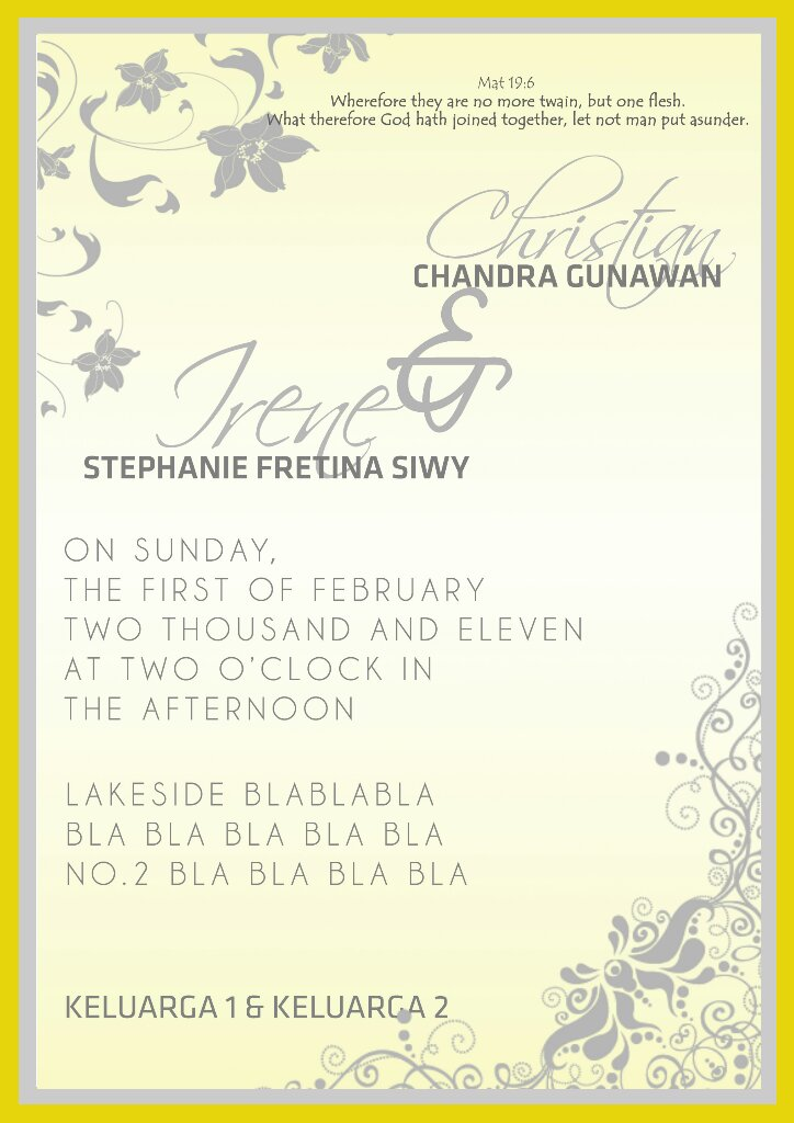 contoh wedding invitation.