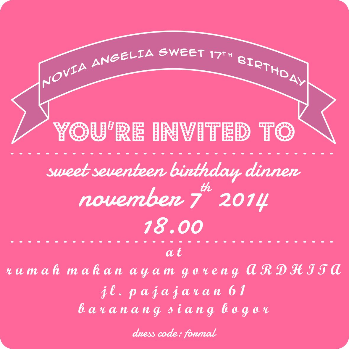 My Cousin Engagement And My Niece Birthday Party Invitations - Contoh invitation card sweet seventeen birthday party